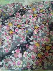 ☆新柄黒×斜桜吹雪柄子供用ダボシャツ120