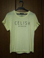 spray/スプレイ/スプレー/シンプル英字Tシャツ/Mサイズ/新品同様/黄色/イエロー