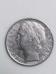 イタリア 100リラ硬貨 1956年銘 ステンレスコイン ミネルバ神 流通品