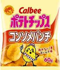 カルビー ポテトチップス コンソメパンチ 60g × 12袋