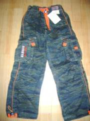 新品■110cm■SASOON迷彩パンツ