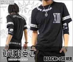 メール便送料無料【MAD BURST JAPAN】70562Tシャツ黒銀M
