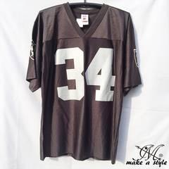 訳あり品 NFL フットボールシャツ レイダース Raiders 黒 XXL674