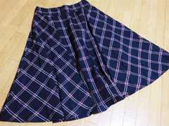 新品ティティベイト/titivaチェック柄膝丈フレアスカート