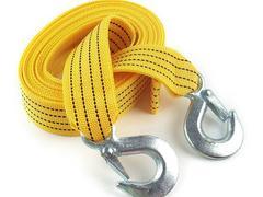 送料無料 牽引ロープ/5mスリングベルト/両端安全フック付き