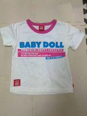 BABYDOLL★半袖Tシャツ(白/100cm)★ベビードール/ベビド/夏