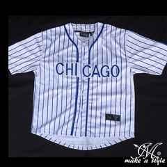 MLBシカゴ カブスBBシャツ437Lベースボールシャツ CHICAGO CUBS