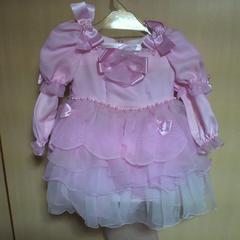 キッズ2Wayピンク フリル ドレス 3才用 七五三・お祝い等に