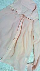 美品パール襟ブラウス        ココディール、スナイデル好きに   シフォンシャツ