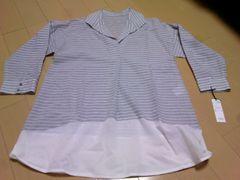 スキッパーシャツ チュニック L