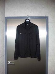 美品〓トルネードマート〓長袖デザインシャツ黒/M〓TORNADO MART