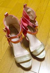 ヴィヴィアンゴールド ピンク サンダル 36サイズ