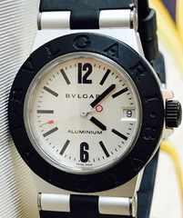 良品ブルガリアルミニウムボーイズ時計AL32TAラバーベルト