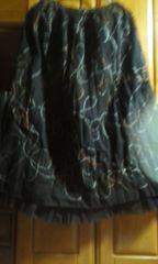 可愛い大きいサイズこげちゃ色がらものスカート