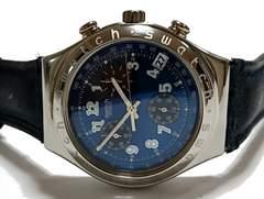 美品 1スタ★スウォッチ/Swatch クロノグラフ 大型メンズ腕時計