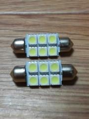 LEDルームランプ SMD5050/3×2=6発(ランプ管型)2個セット
