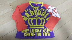 ベビードール BABYDOLL ロンT 長袖シャツ 110 オレンジ×紫