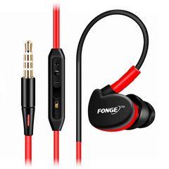 FONGE RED 音量コントロール・マイク付きカナル型イヤホン