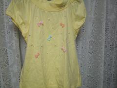 メゾピアノパフ袖シャツ140美品