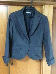 美品 スコットクラブ ストライプ ジャケット スーツ グレー