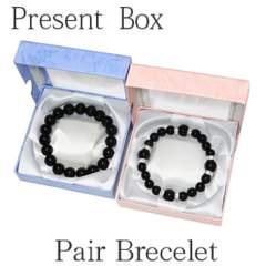 開運高品質オニキスペアブレスレットサイズ変更無料数珠