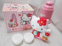 4110☆1スタ☆ハローキティ 電気氷かき器 DIS-112 製氷カップ付