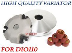 【高品質】ディオ110高品質ハイスピードプーリー ランププレート ローラー6個付