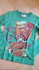 グラグラ150〜Ssize緑色longTシャツused