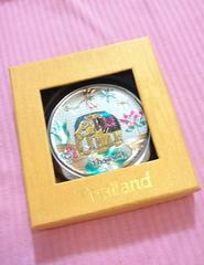 タイのお土産♪キラキラ綺麗なミラー(*/ω\*)