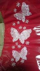 新品、振袖に最適!豪華刺繍柄の半衿、蝶、赤