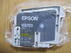 インジェクトプリンターインク EPSON ICGY23(グレー) 新品!�A