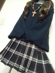 大きいサイズ★モテ可愛ッ★ドルマンニット×プリーツスカート★4L年末感謝