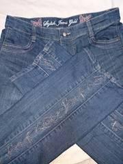 Stylish   jeans    gold