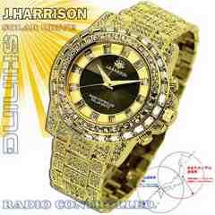 UK産GD shine美しすぎる電波ソーラージョンハリソン宝石腕時計