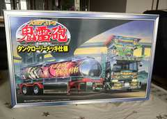 新品プラモ 大型デコトラ 鬼雷砲タンクローリー1 / 32 スケー