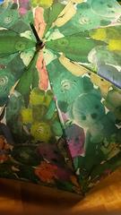 ムチャチャあちゃちゅむパステルくま雨傘大人用グリーン系クマ
