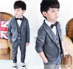 ★男の子フォーマルスーツ3点セット130/入学式タキシード結婚式