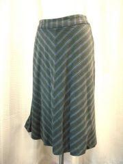 【オリーブデオリーブ】グレー系ストライプAラインスカート