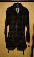 新品SHELLAC シェラック 顔料コーティングロングチェックシャツ 48