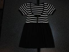 新品 INGNI イング 半袖Aラインチュニック 黒/白ボーダー M