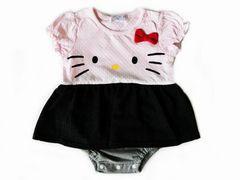 *Hello Kitty*ハローキティ*キティFace切替スカートショートオール*70�a*新品*