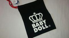 BABYDOLL 巾着 Sサイズ ブラック 22×18cm