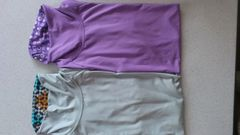 訳あり激安75%オフ福袋、グンゼ、着圧、半袖シャツ2枚(灰、紫、日本製、L)