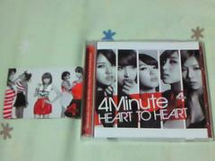 CD+DVD 4Minute HEART TO HEART 初回限定盤A K-POP