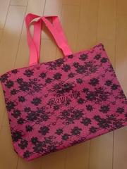 新品★Ravijour★ショッパー ショ袋 布製 ピンク 大容量 レア 不織布バック