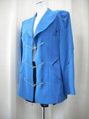 【VIVA PACCY】ブルー/黒のキュロットスーツです