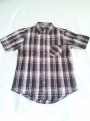 チェックシャツ 半袖 Sサイズ マドラスチェック アメカジ 新品