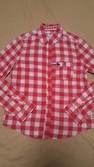アバクロンビー&フィッチ レッド×ホワイト チェックシャツ