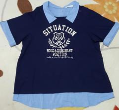 大きいサイズ襟付Tシャツ