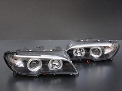 BMW E46 クーペ2DR LEDイカリングヘッドライト ヘッドランプ インナーブラック